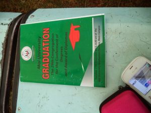 Moi University Graduation Ceremony Green Booklet