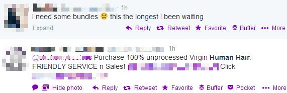 Irrelevant twitter marketing