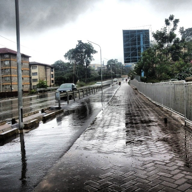 Rainy Westlands, Ring Road, Nairobi.