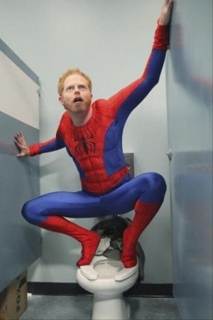 Toilet Spiderman Mitch Modern Family