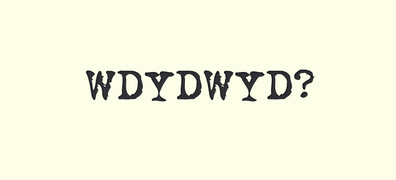 WDYDWYD - Why Do You Do What You Do?