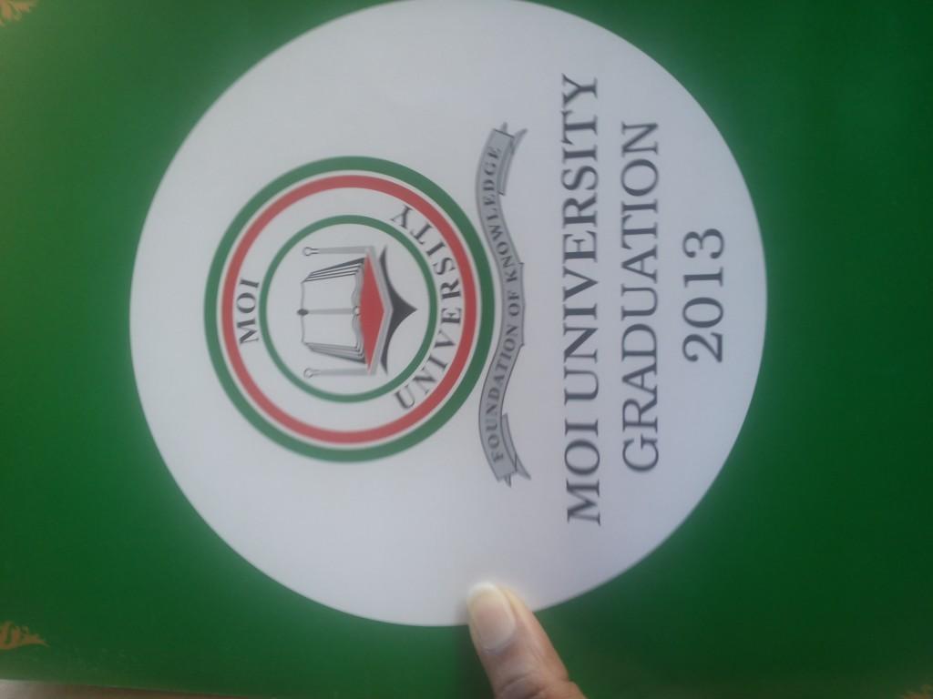 Moi University Degree certificate