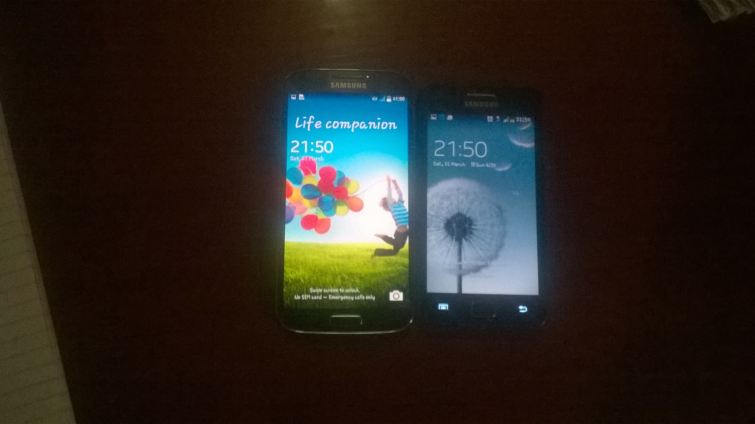 Samsung Galxy S II Plus with Samsung Galxy S4
